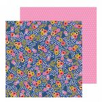 Pebbles - Hey Hello - Flower Patch 12 x 12 Paper